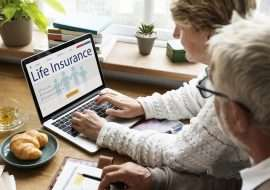 life insurance on laptop