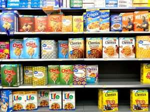 Finding extra money with store brand cereal verse name brand.